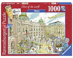 Ravensburger Flerouxlegpuzzel Citys of the World Wenen 1000 stuk