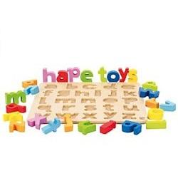 Hape houtenpuzzel alfabet 26 stukjes vanaf 2 jaar