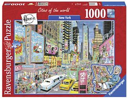 Ravensburger legpuzzel FlerouxCitys of the world New York 1000 s