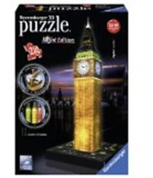 Ravensburger 3D puzzel Big Ben Night Edition 216 stukjes