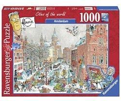 Ravensburger Flerouxlegpuzzel Amsterdam in Winter 1000 stukjes