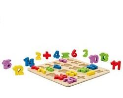 Hape houtenpuzzelGetallen 23 stukjes voor peuters
