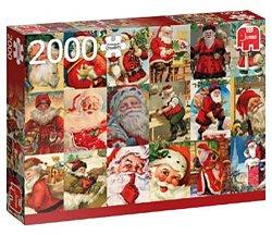 Jumbo legpuzzel Vintage Kerstmannen 2000 stukjes