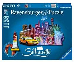 Ravensburger silhouettepuzzel Skyline New York 1158 stukjes