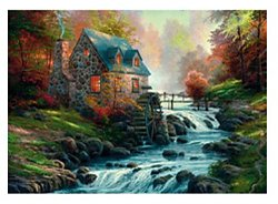 Schmidt Thomas Kinkade legpuzzel Near the old Mill 1000 stukjes