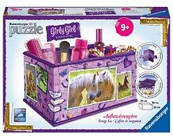 Ravensburger Girly Girl 3D puzzel opbergdoos Paarden 216 stukjes