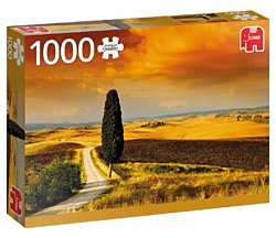 Jumbo legpuzzel zonsondergang in toscane 1000 stukjes