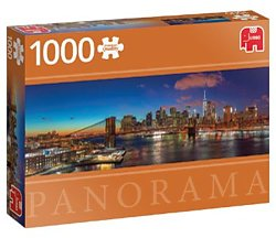 Jumbo legpuzzel panorama Hudson Bridge New York 1000 stukjes