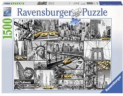 Ravensburger legpuzzel kleuraccenten in New York 1500 stukjes va
