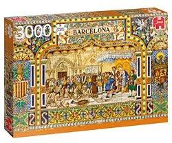 Jumbo legpuzzel Tegels uit Barcelona 3000 stukjes