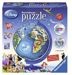 Ravensburger Disney 3D kinderpuzzel Globe 180 stukjes vanaf 7 ja