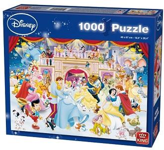 King Disney kinderpuzzel Prinsessen Dansen 1000 stukjes vanaf 7