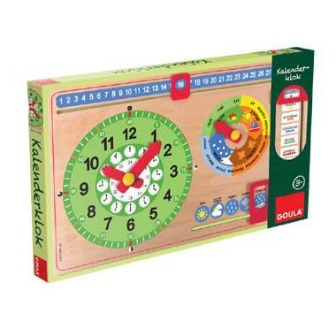 Goula kinderpuzzel Klok kijken 12 stukjes vanaf 3 jaar