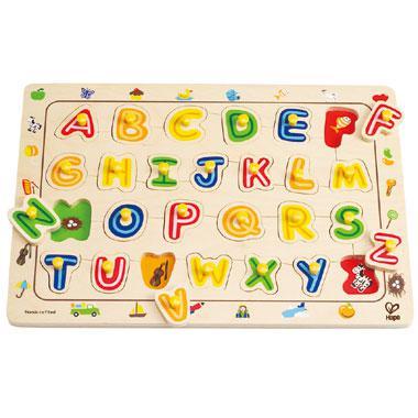 Hape Houten kinderpuzzel Alfabet 26 stukjes vanaf 3 jaar
