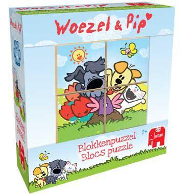 Jumbo kubuspuzzel Woezel & Pip 4 stukjes vanaf 2 jaar