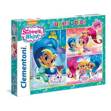 Clementoni kinderpuzzel Shimmer & Shine 48 stukjes vanaf 5 jaar