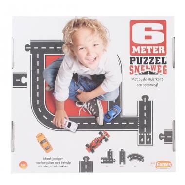 Just Games vloerpuzzel Snelweg 22 stukjes vanaf 4 jaar