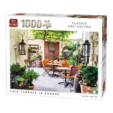 King puzzel Cafe Terrace in europe 1000 stukjes