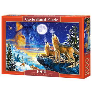 Selecta Castorland legpuzzel Huilende Wolven 1000 stukjes