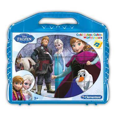 Clementoni Disney frozen blokpuzzel Elsa en Vrienden 12 stukjes