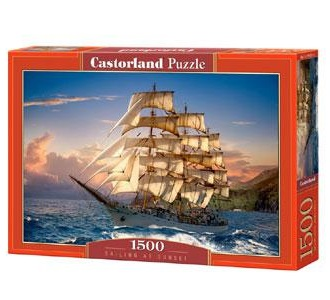 Selecta Castorland legpuzzel Zeilen bij Zonsondergang 1500 stukj