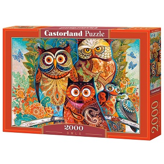 Castorland puzzel Uilen 2000 stukjes