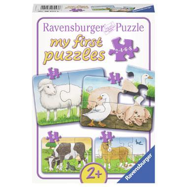 Ravensburger mijn eerste puzzels puzzel Boerderij Dieren 8 stukj