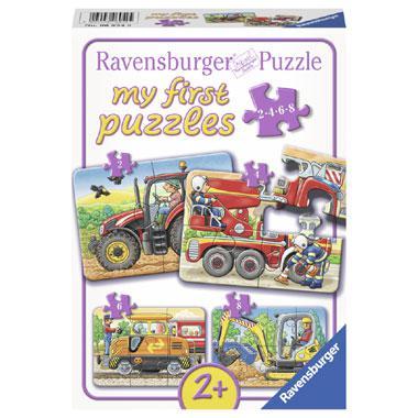 Ravensburger mijn eerste puzzels kinderpuzzel Op het Werk 8 stuk