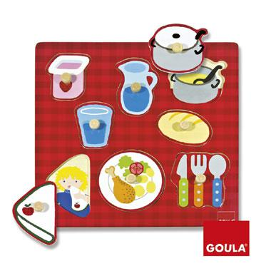 Goula noppenpuzzel Aan Tafel 8 stukjes vanaf 2 jaar