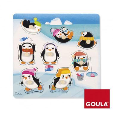 Goula noppen kinderpuzzel Pinguins 8 stukjes vanaf 2 jaar