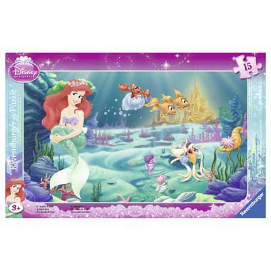 Ravensburger Disney kinderpuzzel De Wereld van Ariel 15 stukjes