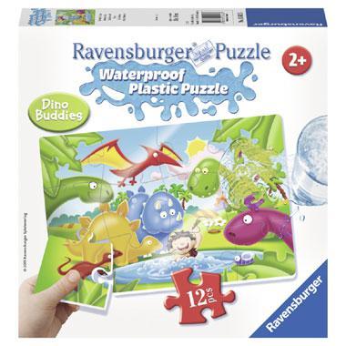 Ravensburger plastic kinderpuzzel Dinosaurus 12 stukjes vanaf 2