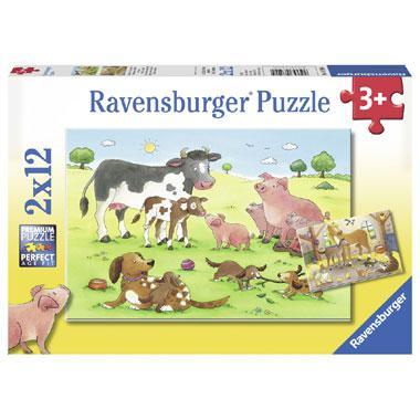 Ravensburger puzzel Gelukkige Dieren Families 12 stukjes vanaf 3