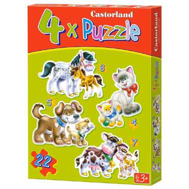 Selecta Castorland kinderpuzzel Animals with Babies 22 stukjes v