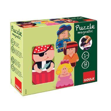 Jumbo Goula magnetische puzzel poppetjes 12 stukjes voor peuters