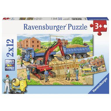 Ravensburger puzzel Huizen Bouw 12 stukjes vanaf 3 jaar