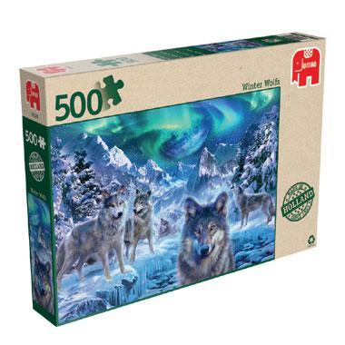 Jumbo puzzel Winterwolven 500 stukjes