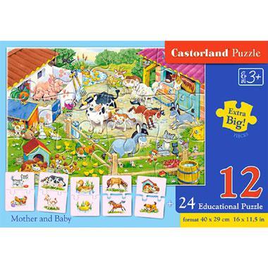 Castorland educatieve puzzel moeder en baby 12 stukjes vanaf 3 j