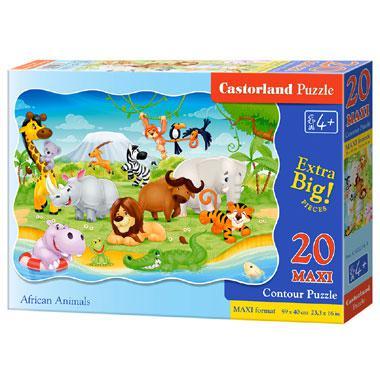 Castorland maxi puzzel Afrikaanse Dieren 20 stukjes vanaf 4 jaar