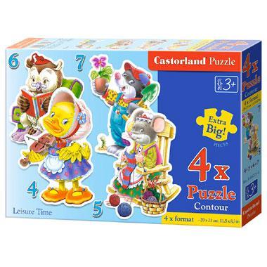 Selecta Castorland kinderpuzzel Vrije Tijd 7 stukjes vanaf 3 jaa