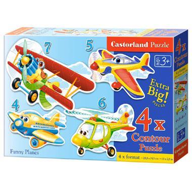 Castorland kinderpuzzel grappige vliegtuigen 7 stukjes vanaf 3 j