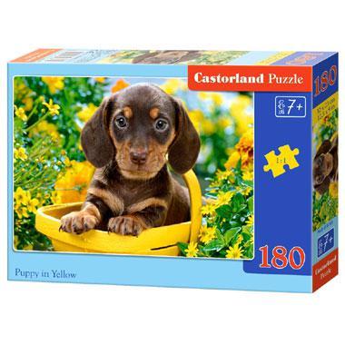 Castorland kinderpuzzel Puppy in Geel 180 stukjes vanaf 7 jaar