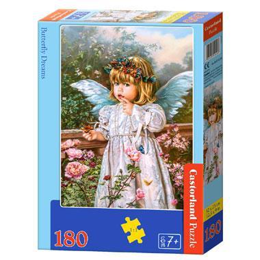 Castorland kinderpuzzel Dromen van de Vlinder 180 stukjes vanaf
