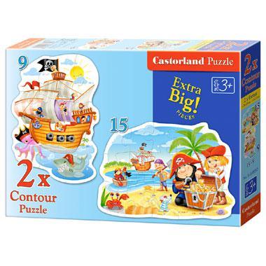 Castorland kinderpuzzel Schat van de Piraat 15 stukjes vanaf 3 j