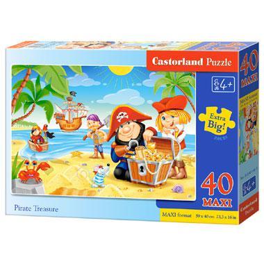 Castorland maxi kinderpuzzel Piraten Schatten 40 stukjes vanaf 4