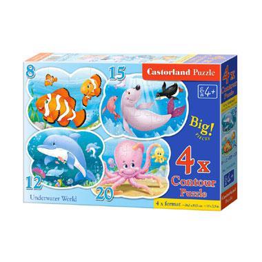 Castorland kinderpuzzel Onderwater Wereld 20 stukjes vanaf 4 jaa