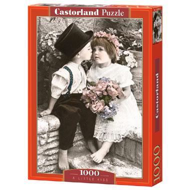 Selecta Castorland legpuzzel a Little Kiss 1000 stukjes
