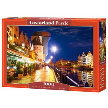 Castorland legpuzzel Gdansk aan Water bij Nacht 1000 stukjes