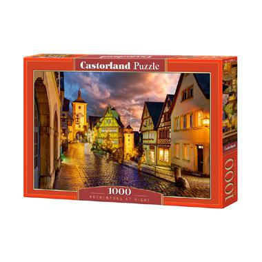 Castorland legpuzzel Rothenburg bij Nacht 1000 stukjes