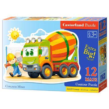 Castorland maxi kinderpuzzel Betonmixer 12 stukjes vanaf 3 jaar